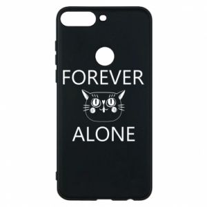 Phone case for Huawei Y7 Prime 2018 Forever alone - PrintSalon