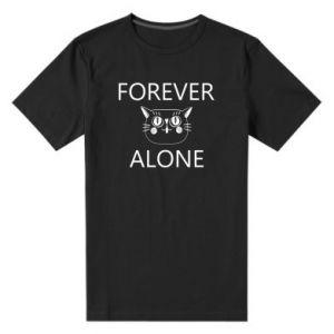 Men's premium t-shirt Forever alone - PrintSalon