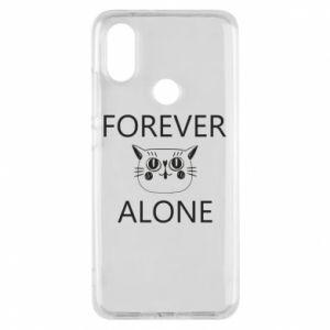 Phone case for Xiaomi Mi A2 Forever alone - PrintSalon