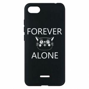 Phone case for Xiaomi Redmi 6A Forever alone - PrintSalon