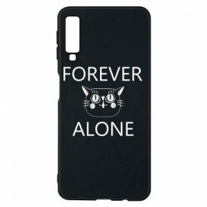 Phone case for Samsung A7 2018 Forever alone - PrintSalon