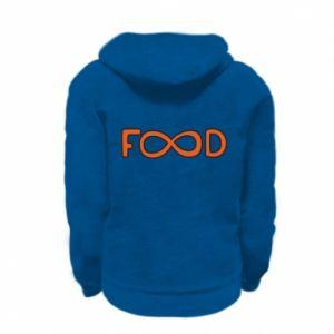 Bluza na zamek dziecięca Forever food