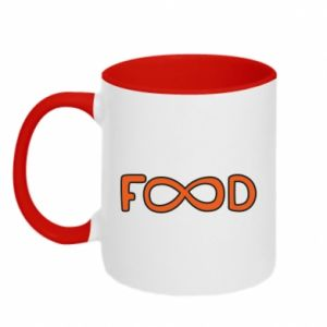 Two-toned mug Forever food