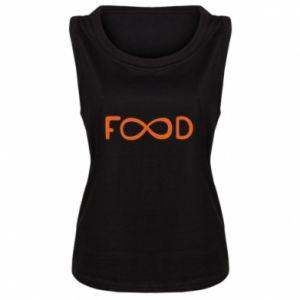 Damska koszulka bez rękawów Forever food