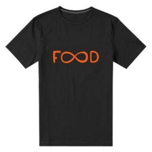 Męska premium koszulka Forever food