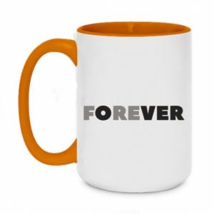 Two-toned mug 450ml Forever over