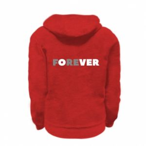 Kid's zipped hoodie % print% Forever over