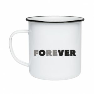 Enameled mug Forever over