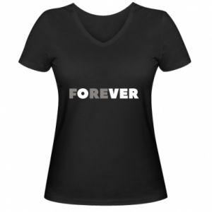 Damska koszulka V-neck Forever over