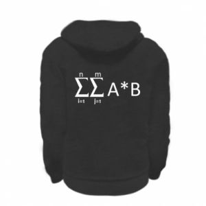 Kid's zipped hoodie % print% Formula