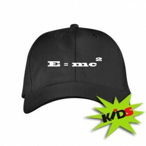 Dziecięca czapeczka z daszkiem E = mc2