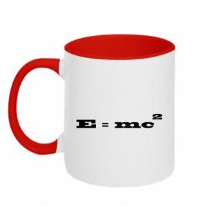 Two-toned mug E = mc2