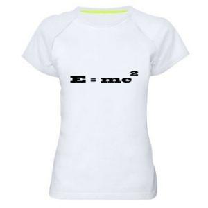 Damska koszulka sportowa E = mc2
