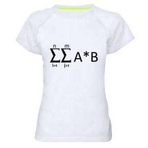 Women's sports t-shirt Formula