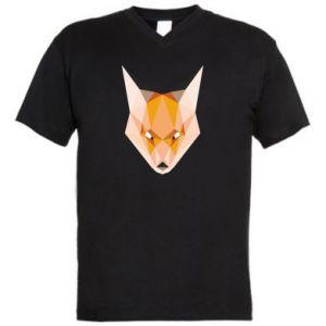 Męska koszulka V-neck Fox geometry
