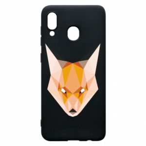 Etui na Samsung A20 Fox geometry