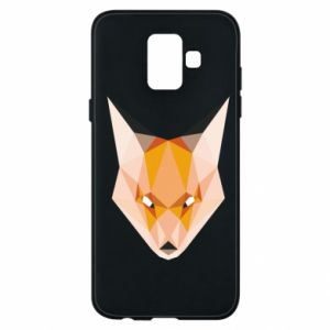 Etui na Samsung A6 2018 Fox geometry