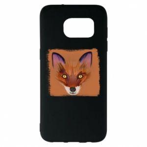 Etui na Samsung S7 EDGE Fox on an orange background