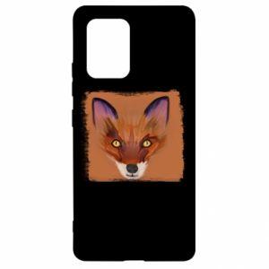 Etui na Samsung S10 Lite Fox on an orange background