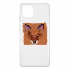 Etui na Samsung Note 10 Lite Fox on an orange background