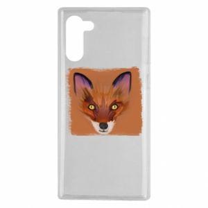 Etui na Samsung Note 10 Fox on an orange background