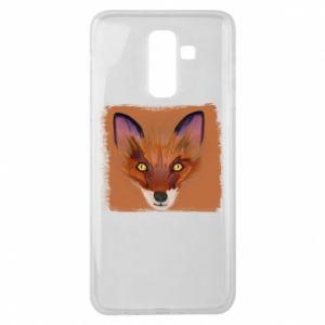 Etui na Samsung J8 2018 Fox on an orange background