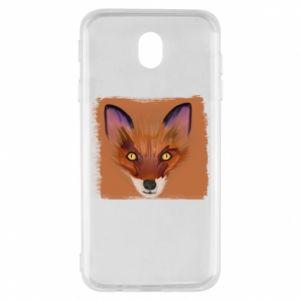 Etui na Samsung J7 2017 Fox on an orange background