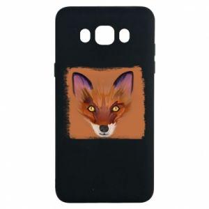 Etui na Samsung J7 2016 Fox on an orange background