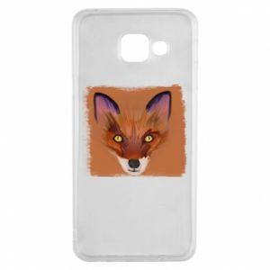 Etui na Samsung A3 2016 Fox on an orange background