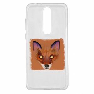 Etui na Nokia 5.1 Plus Fox on an orange background