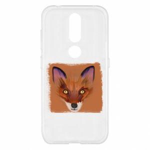 Etui na Nokia 4.2 Fox on an orange background