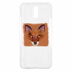 Etui na Nokia 2.3 Fox on an orange background