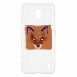 Etui na Nokia 2.2 Fox on an orange background