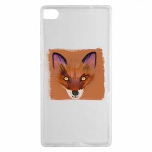 Etui na Huawei P8 Fox on an orange background