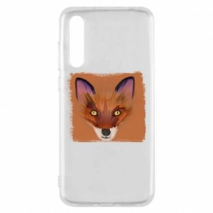Etui na Huawei P20 Pro Fox on an orange background