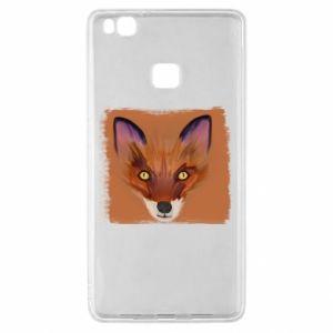 Etui na Huawei P9 Lite Fox on an orange background