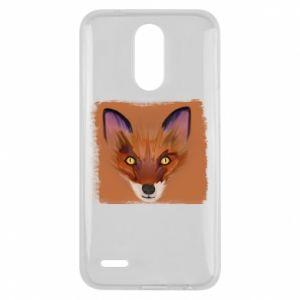 Etui na Lg K10 2017 Fox on an orange background