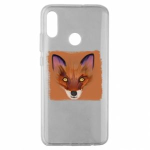 Etui na Huawei Honor 10 Lite Fox on an orange background