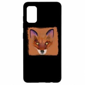 Etui na Samsung A41 Fox on an orange background