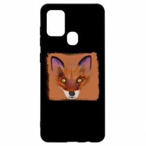Etui na Samsung A21s Fox on an orange background