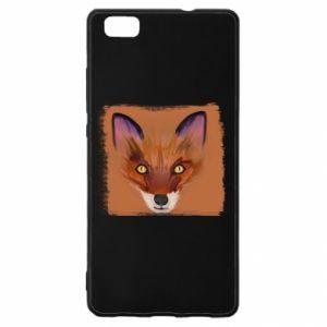 Etui na Huawei P 8 Lite Fox on an orange background