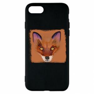Etui na iPhone SE 2020 Fox on an orange background