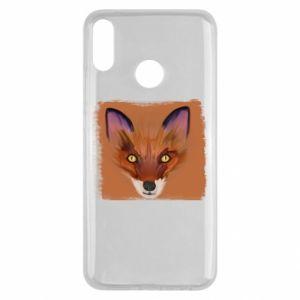 Etui na Huawei Y9 2019 Fox on an orange background
