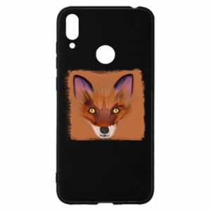 Etui na Huawei Y7 2019 Fox on an orange background