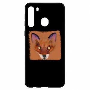 Etui na Samsung A21 Fox on an orange background