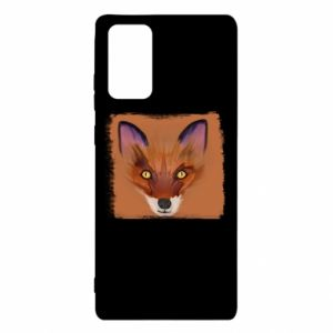Etui na Samsung Note 20 Fox on an orange background