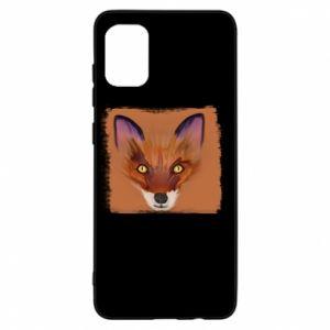 Etui na Samsung A31 Fox on an orange background