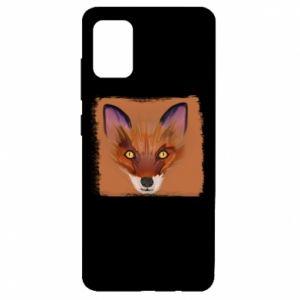 Etui na Samsung A51 Fox on an orange background