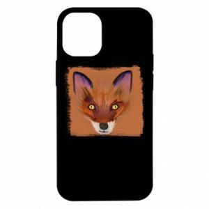 Etui na iPhone 12 Mini Fox on an orange background