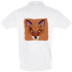 Koszulka Polo Fox on an orange background